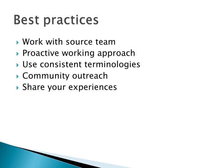 Work with source team