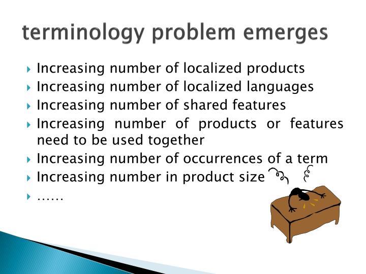 terminology problem emerges
