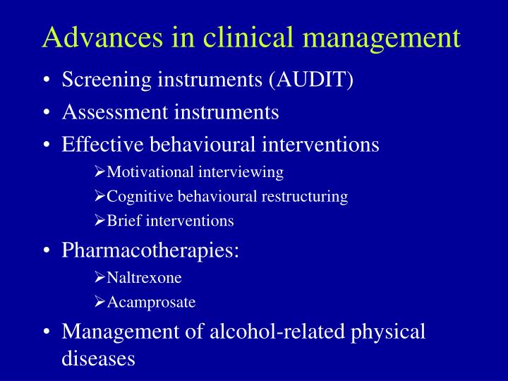 Advances in clinical management