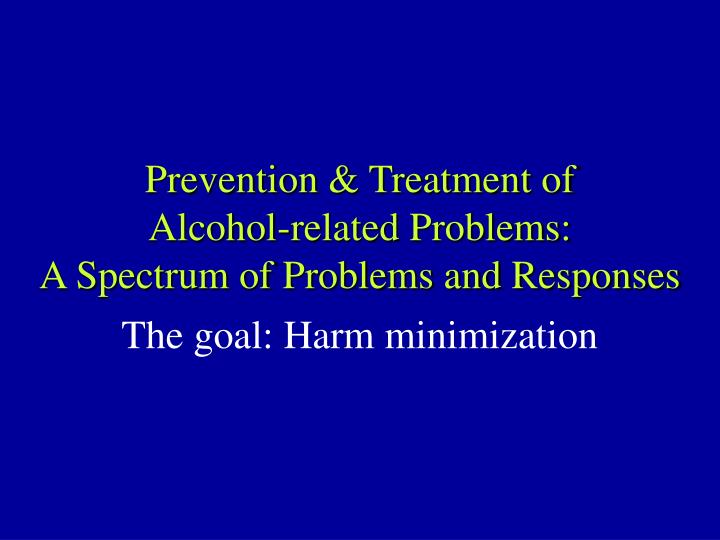 Prevention & Treatment of