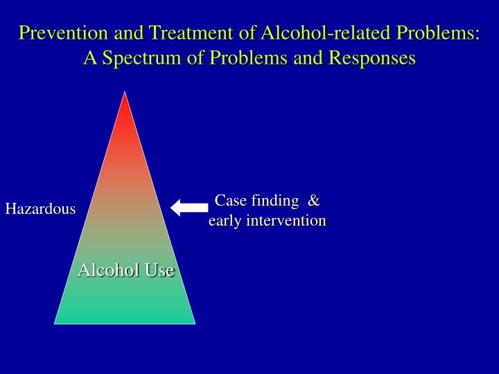 Prevention and Treatment of Alcohol-related Problems: