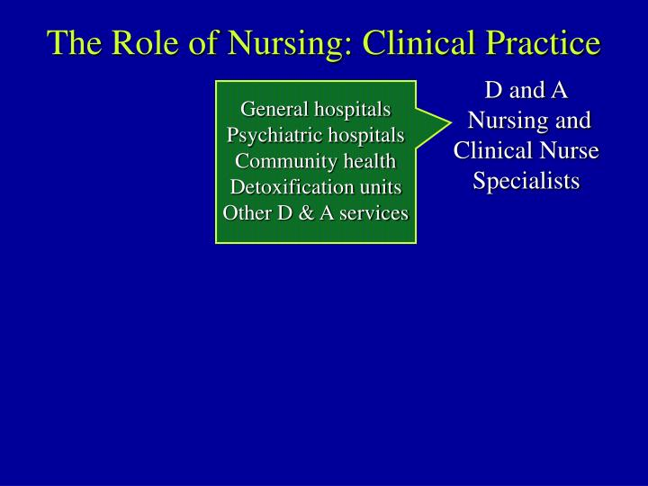 The Role of Nursing: Clinical Practice