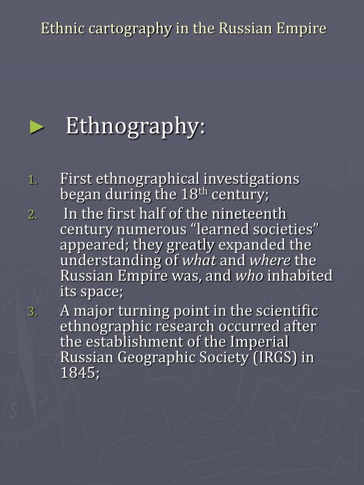 Ethnic cartography in the russian empire1