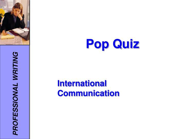 pop quiz n.