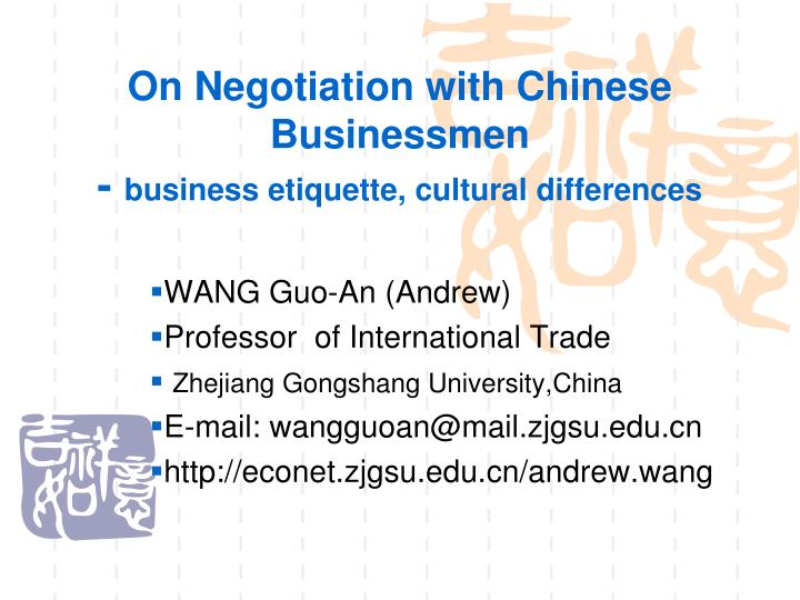cultural differences in negotiation example