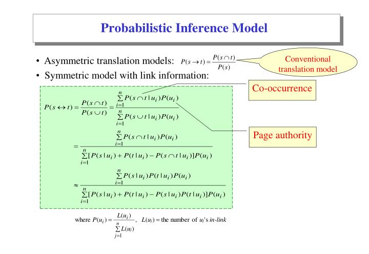 Probabilistic Inference Model
