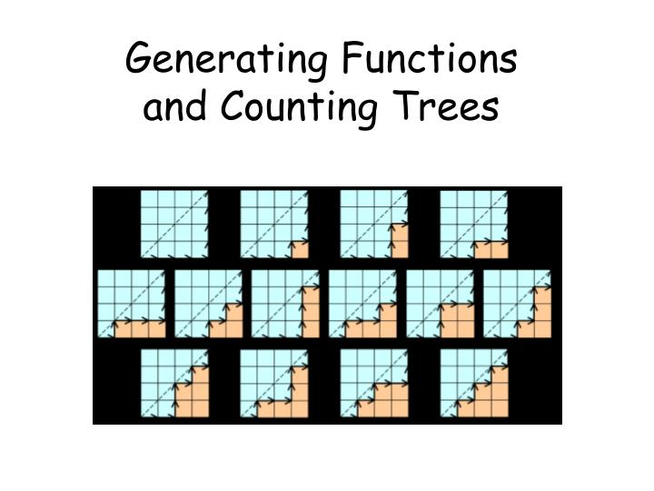 generating functions and counting trees n.