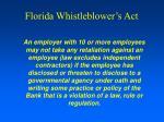 florida whistleblower s act