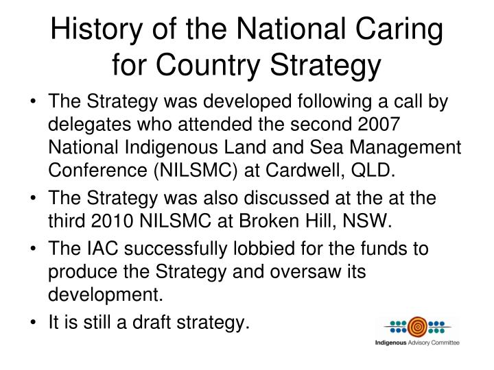History of the National Caring for Country Strategy