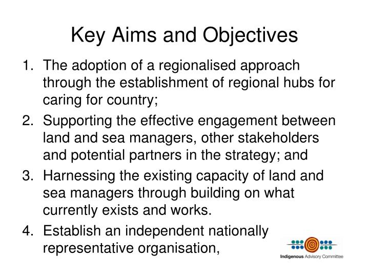 Key Aims and Objectives