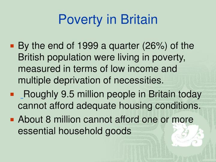 Poverty in Britain