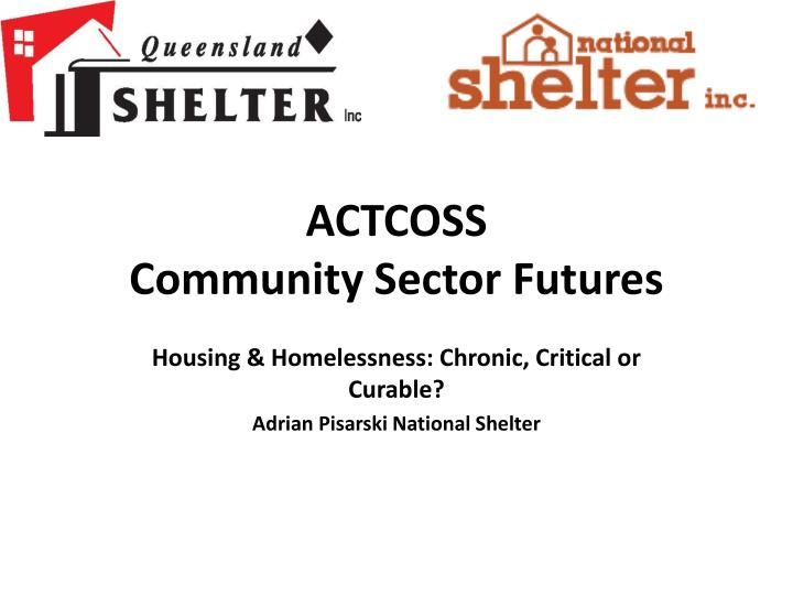 actcoss community sector futures n.