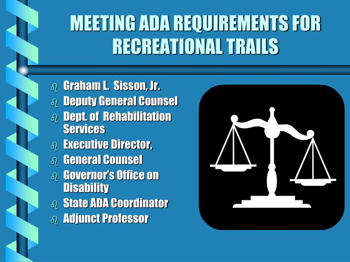 meeting ada requirements for recreational trails n.