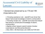 accessorial civil liability of lawyers