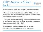 asic s notices to produce books