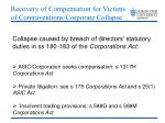 recovery of compensation for victims of contraventions corporate collapse