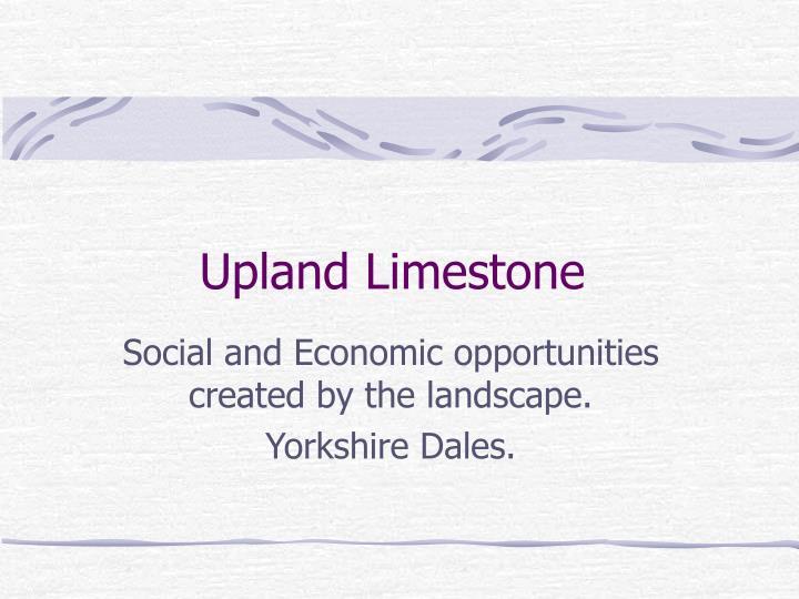 upland limestone n.