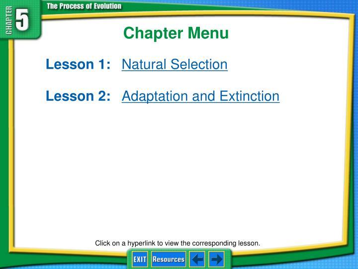Chapter menu