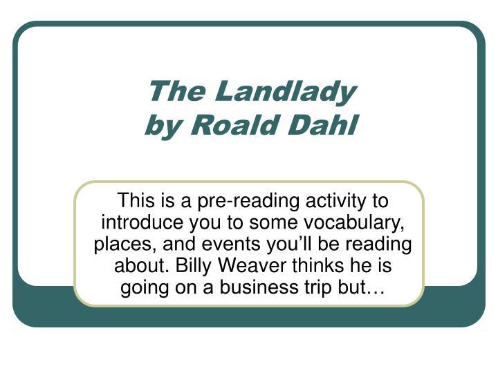 the landlady by roald dahl n.