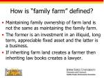 how is family farm defined