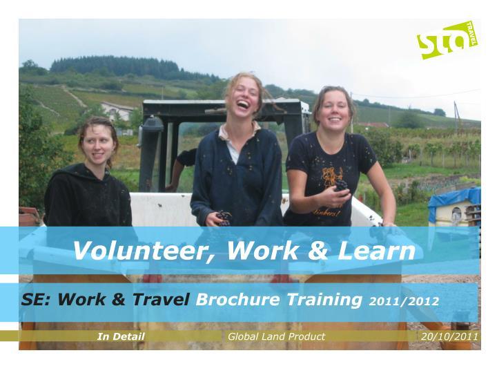 volunteer work learn n.