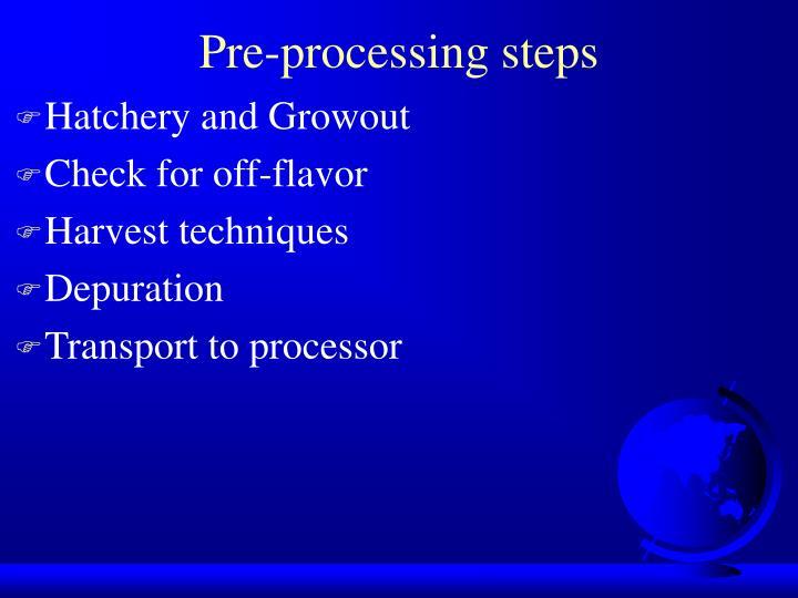Pre processing steps