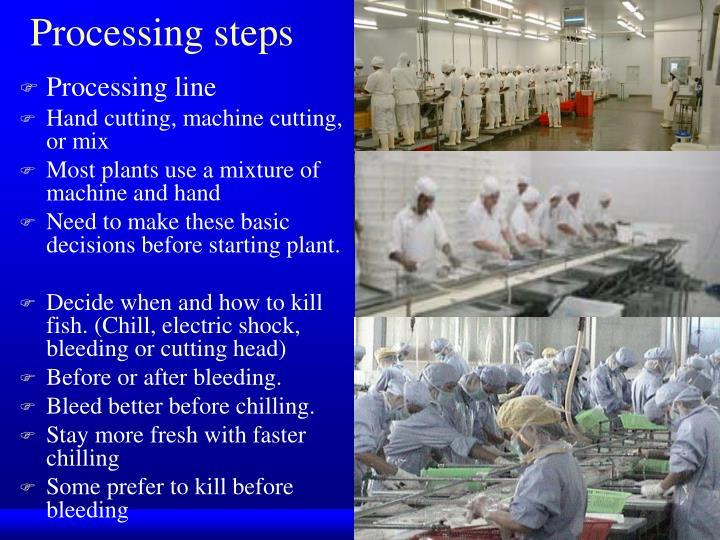 Processing steps