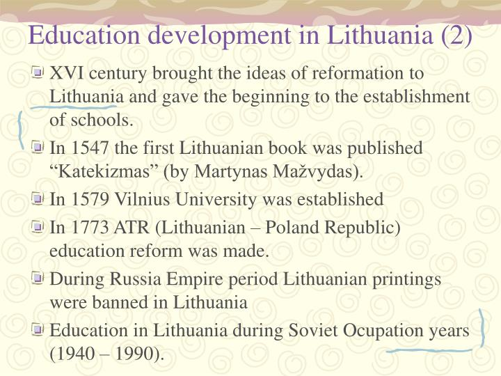 Education development in Lithuania (2)
