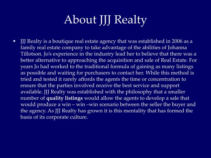 About JJJ Realty