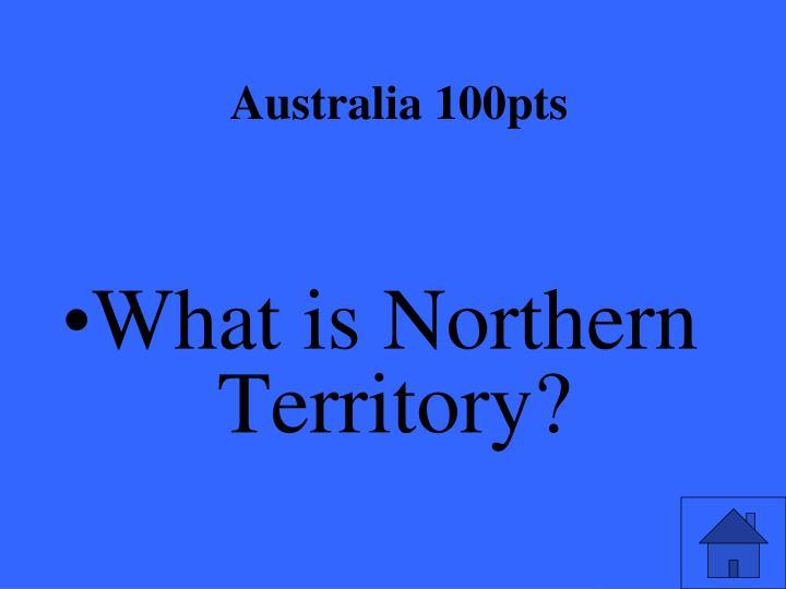 Australia 100pts