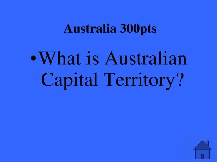 Australia 300pts