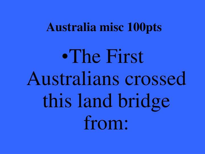 Australia misc 100pts
