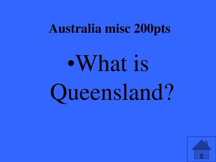 Australia misc 200pts