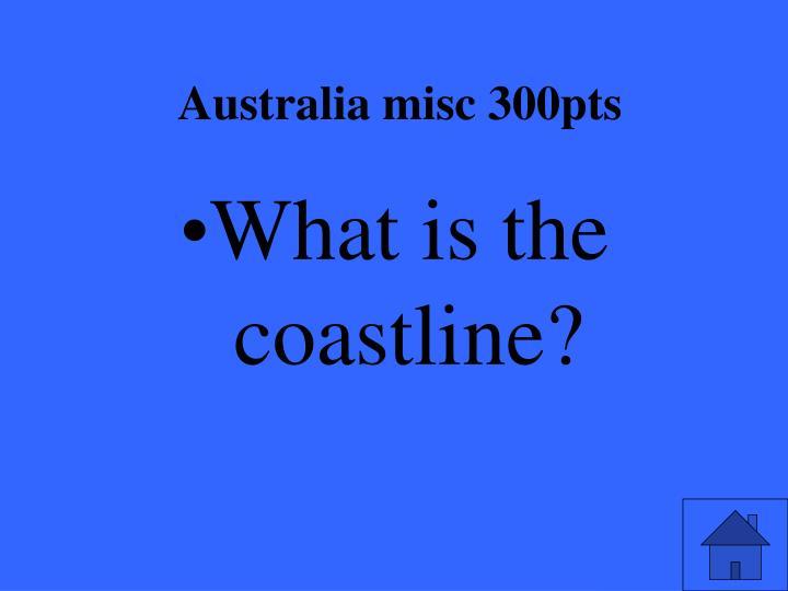 Australia misc 300pts