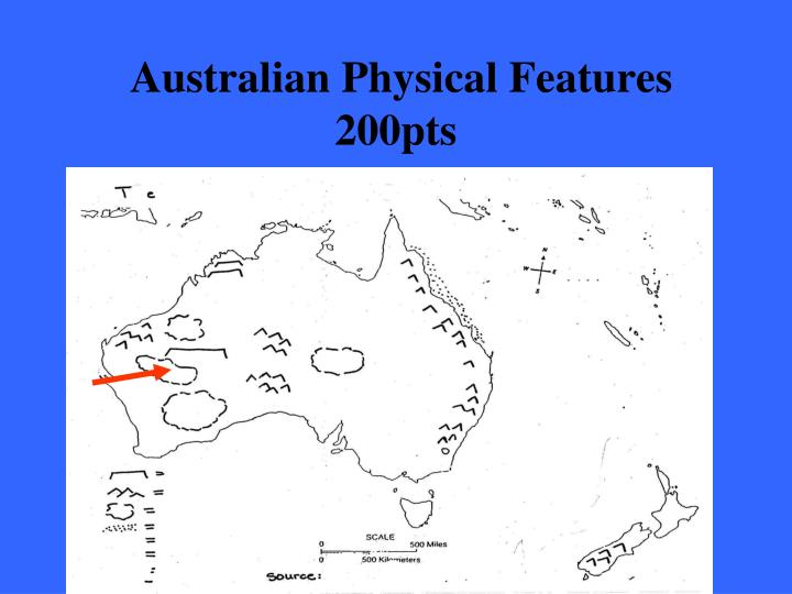 Australian Physical Features 200pts