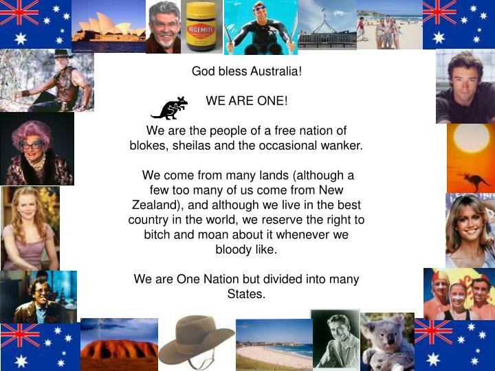 PPT - God bless Australia! WE ARE ONE! PowerPoint