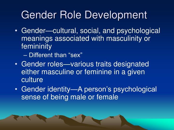 Gender Role Development