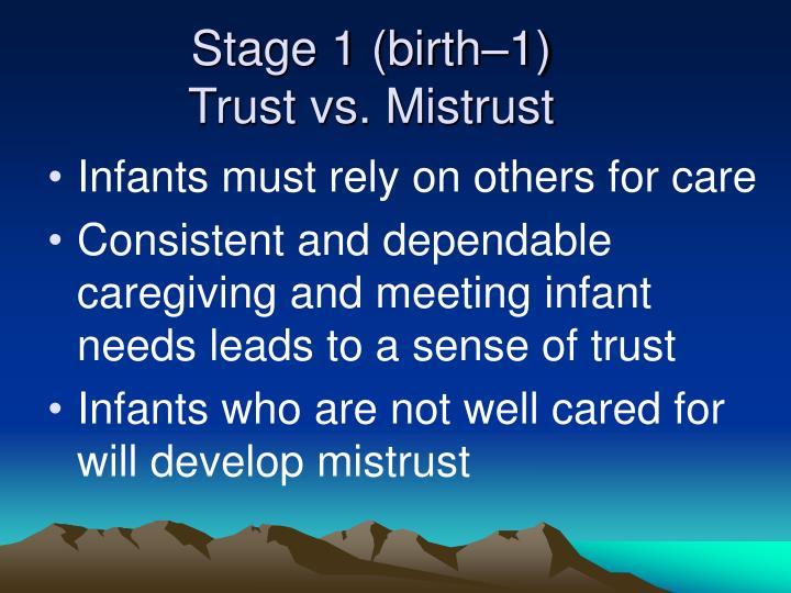 Stage 1 (birth–1)