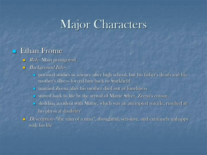 character analysis ethan frome Detailed analysis of characters in edith wharton's ethan frome learn all about how the characters in ethan frome such as ethan frome and zeena ethan frome is the novella's protagonist and tragic hero ethan's entire life is marked by poverty and his indecision and doubt first he must give.