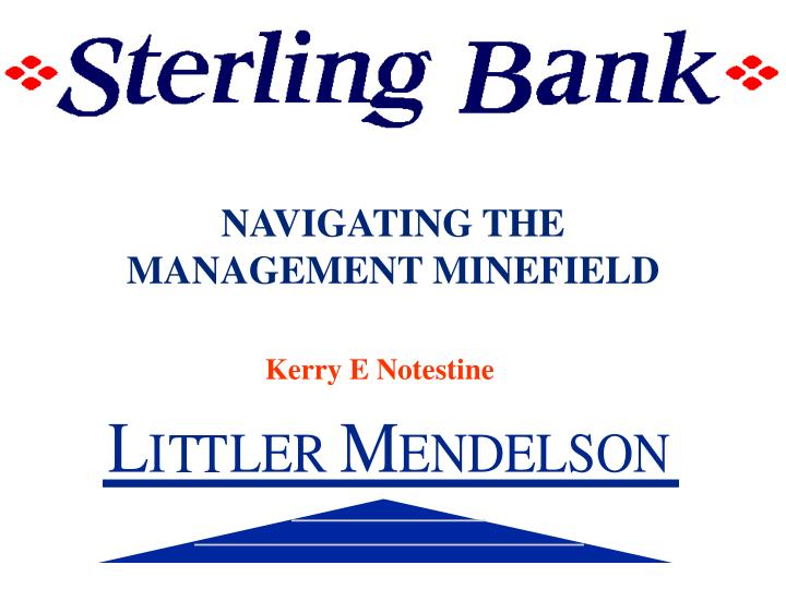 navigating the management minefield n.