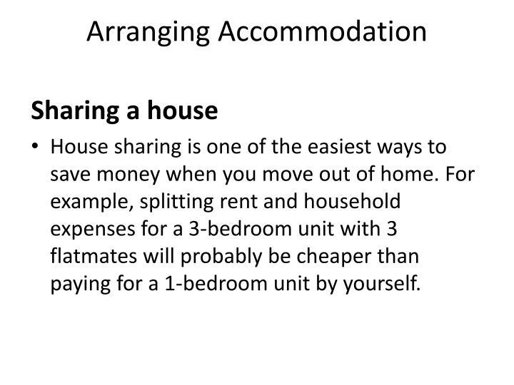 Arranging Accommodation