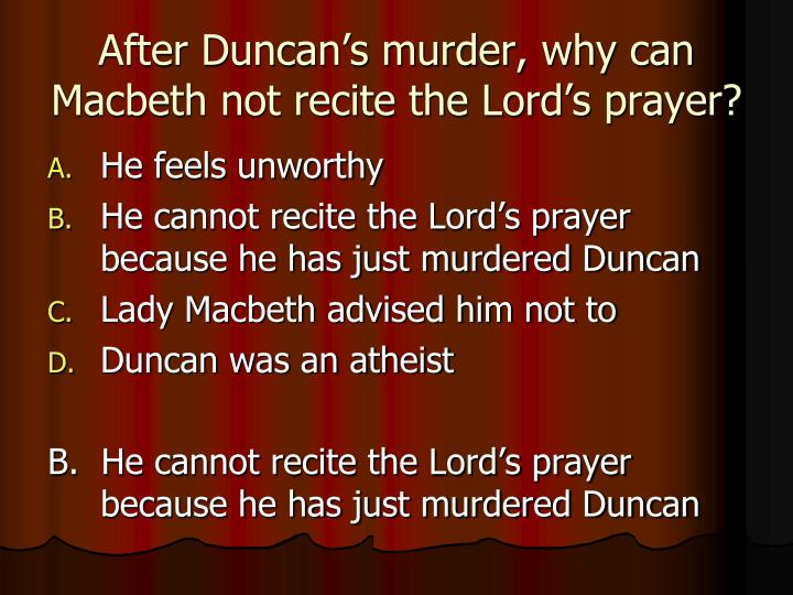 consequences of macbeths murder of duncan