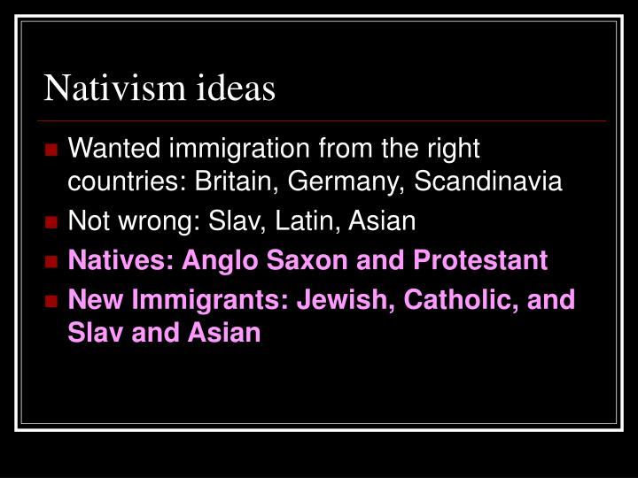 Nativism ideas
