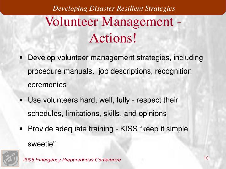 Volunteer Management -
