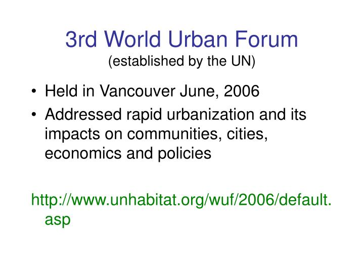 3rd World Urban Forum
