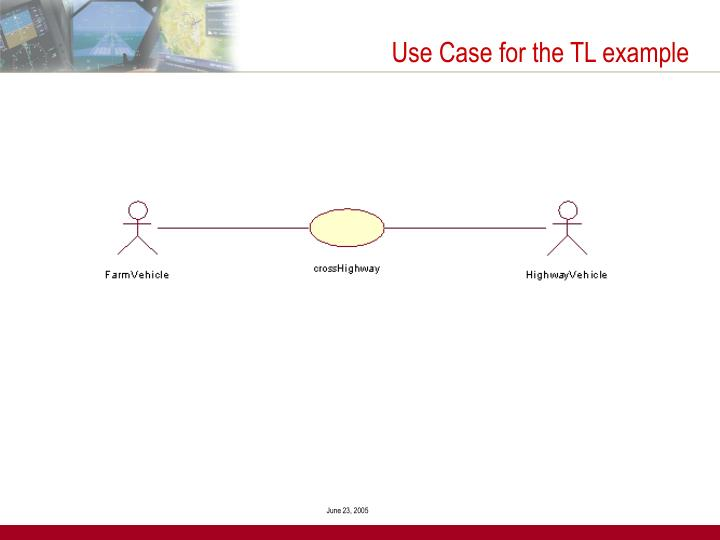 Use Case for the TL example