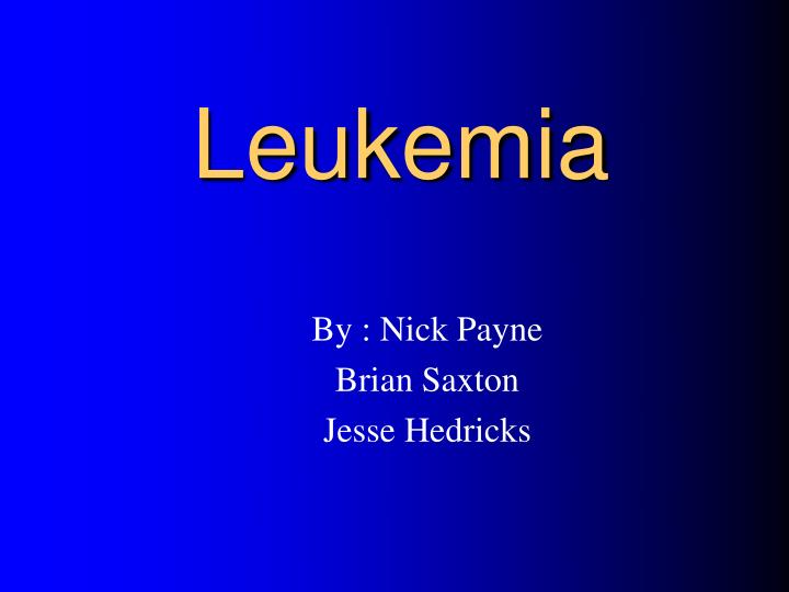 leukemia n.