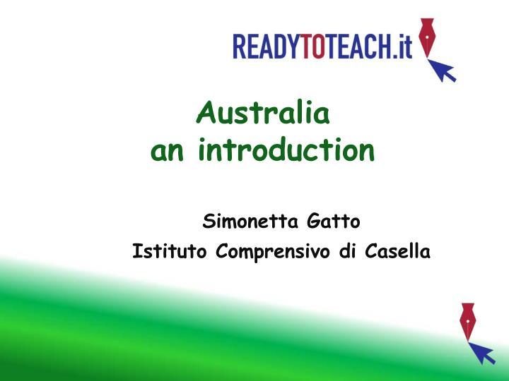 australia an introduction n.