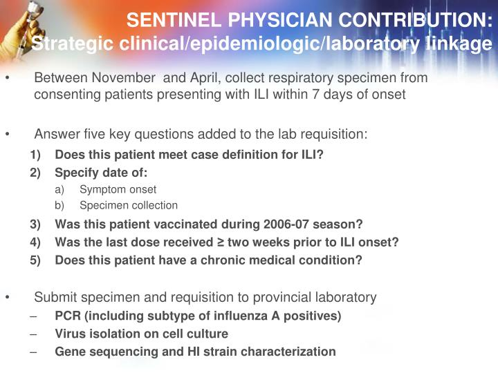 SENTINEL PHYSICIAN CONTRIBUTION: