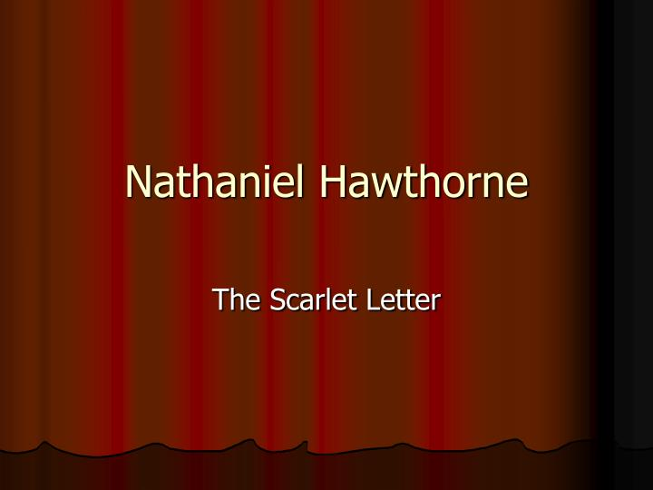 the effects of sin in the scarlet letter by nathaniel hawthorne